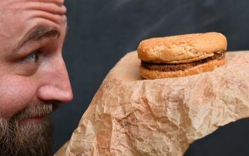 الصورة: الصورة: أقدم شطيرة برغر في العالم تعود لعام 1995