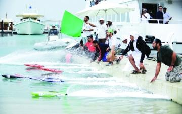 الصورة: الصورة: مياه أبوظبي تستضيف منافسات الزوارق اللاسلكية