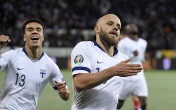 الصورة: الصورة: فنلندا تتأهل إلى نهائيات أوروبا للمرة الأولى في تاريخها