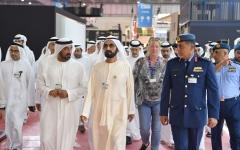 الصورة: الصورة: محمد بن راشد يتفقد سير العمل لاستقبال معرض دبي للطيران