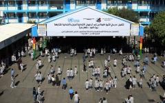 الصورة: الصورة: «خليفة الانسانية» تقدم 5.5 مليون درهم لدعم التعليم في غزة