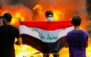 الصورة: الصورة: شظايا التظاهرات تصيب إقليم كردستان