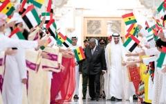 الصورة: الصورة: محمد بن زايد: إرادة مشتركة بين الإمارات وغانا لتطوير العلاقات