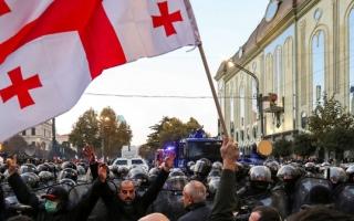 الصورة: الصورة: دعم أمريكي أوروبي لتظاهرات جورجيا