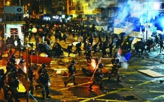 الصورة: الصورة: الصين: لن نقف مكتوفي الأيدي إذا خرج الوضع عن السيطرة في هونغ كونغ