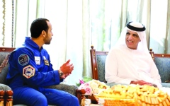 الصورة: الصورة: سعود بن صقر: دعم القيادة رسخ مكانة الدولة في قطاع الفضاء