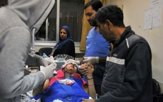 الصورة: الصورة: قتيلان وعدد من المصابين في القصف الإسرائيلي على سوريا