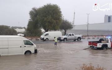 الصورة: الصورة: أمطار غزيرة برأس الخيمة وجبل جيس يسجل أقل درجة حرارة في الدولة