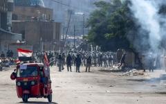 الصورة: الصورة: العراقيون يتوافدون على ساحات التظاهر في بغداد والمحافظات
