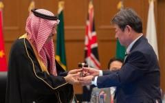الصورة: الصورة: السعودية تتسلم رئاسة مجموعة العشرين