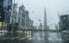 الصورة: الصورة: تتأثر الإمارات بامتداد منخفض جوي سطحي وتوقع سقوط أمطار