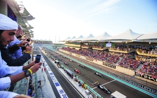 الصورة: الصورة: حلبة ياس جاهزة لأقوى سباقات الفورمولا1