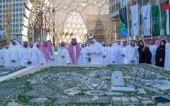 """الصورة: الصورة: حمدان بن محمد ومحمد بن سلمان يزوران موقع """"أكسبو 2020 دبي"""""""