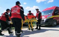 الصورة: الصورة: وفاة 22 شخصاً إثر انقلاب حافلة في تونس