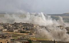 الصورة: الصورة: 70 قتيلاً إثر معارك في إدلب