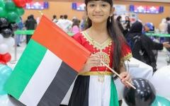 الصورة: الصورة: السعوديون يقاسمون أشقاءهم في الإمارات احتفالهم باليوم الوطني