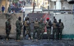 الصورة: الصورة: ماذا يفعل أنصار الحشد الشعبي في ساحة التحرير؟