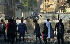 الصورة: الصورة: مقتل 14 شخصاً في إطلاق نار قرب موقع احتجاج وسط بغداد