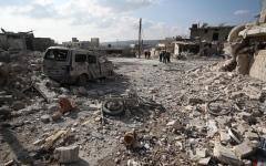 الصورة: الصورة: مقتل 19 مدنياً بقصف جوي في إدلب