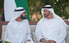 الصورة: الصورة: محمد بن راشد يلتقي محمد بن زايد ويتبادلان الأحاديث حول القضايا التي تهم الوطن والمواطن