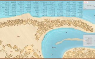 """الصورة: الصورة: """"خريطة قديمة للشندغة تلقى انتشاراً كبيراً عبر """"التواصل الاجتماعي"""