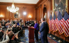 """الصورة: الصورة: """"قضائية"""" مجلس النواب تبدأ اليوم مناقشة مواد اتهام ترامب بالتقصير"""