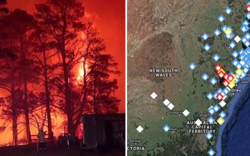 """الصورة: الصورة: """"حرائق بالقرب مني"""" العبارة الأكثر بحثاً في غوغل بإستراليا"""