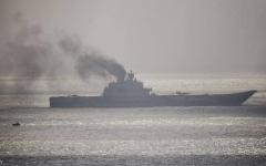 الصورة: الصورة: حريق على متن حاملة الطائرات الروسية الوحيدة