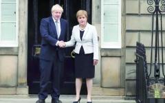 الصورة: الصورة: جونسون: لا استفتاء جديداً على استقلال اسكتلندا
