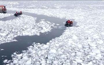 الصورة: الصورة: بالفيديو.. ذوبان القطب الجنوبي سيرفع سطح البحر ثلاثة أمتار