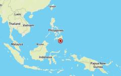 الصورة: الصورة: مقتل طفلة ووقوع إصابات في زلزال قوي جنوب الفلبين
