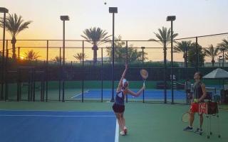 الصورة: الصورة: بالصور.. نجوم التنس في العالم يقضون إجازاتهم في دبي