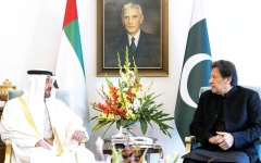 الصورة: الصورة: محمد بن زايد: الإمارات تدعم السلام والحوار في شبه القارة الهندية
