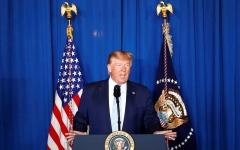 الصورة: الصورة: (فيديو) ترامب: محاولة إيران زعزعة استقرار دول الجوار يجب أن تتوقف الآن