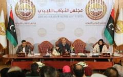 الصورة: الصورة: مجلس النواب الليبي يلغي الاتفاقيتين المشبوهتين ويحيل السراج للقضاء