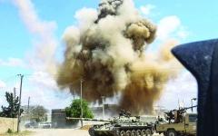 """الصورة: الصورة: """"غارات ليبية""""على معسكرات الميليشيات شرق طرابلس"""