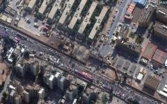 الصورة: الصورة: سقوط صواريخ قرب السفارة الأمريكية وسط بغداد