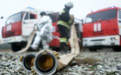 الصورة: الصورة: 6 قتلى في حريق بضواحي موسكو