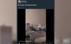 الصورة: الصورة: شاهد.. عاصفة في مدينة أرجنتينية تحول النهار إلى ليل