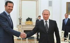 الصورة: الصورة: بوتين يصل إلى دمشق ويلتقي الأسد في مقر قيادة القوات الروسية