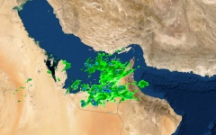الصورة: الصورة: هطول أمطار الخير على الإمارات تستمر حتى الأحد