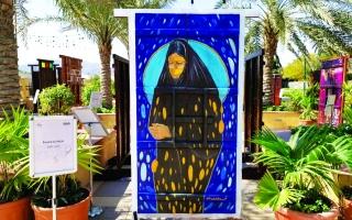 الصورة: الصورة: «ليالي حتا ».. 10 فنانين يتركون بصماتهم على 5 أبواب قديمة