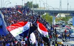 الصورة: الصورة: عشرات المصابين في مواجهات بين طلبة والأمن العراقي