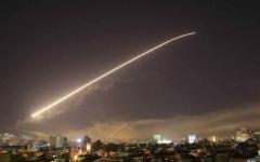 الصورة: الصورة: عدوان إسرائيلي على مطار عسكري وسط سوريا