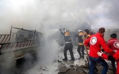 الصورة: الصورة: الطيران السوري والروسي  يحبطان هجوماً لـ «النصرة» في إدلب