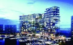 الصورة: الصورة: 50% إنجاز «حدائق بابل»  على قناة دبي المائية