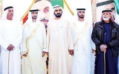 الصورة: الصورة: محمد بن راشد يحضر أفراح الكتبي والأحبابي والفلاسي