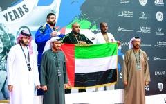 الصورة: الصورة: 121 ميدالية لأبطال الإمارات في « أبوظبي غراند سلام للجوجيتسو»