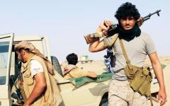الصورة: الصورة: القوات المشتركة تدك تحصينات الحوثيين في صعدة