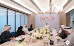 الصورة: الصورة: أحمد بن محمد يترأّس الاجتماع الأول لمجلس دبي للإعلام